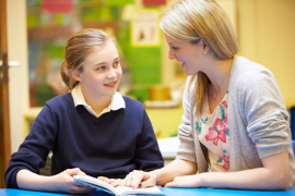 Teacher and Student Learning English