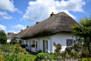 Typical Irish Cottage Host Family Home