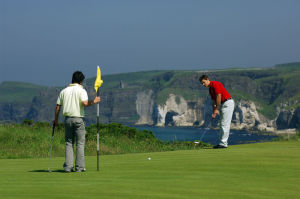 Two Students Playing Golf, One of the Most Popular Activities in Ireland